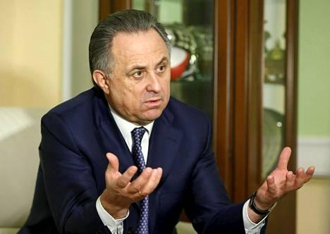 Venäjän urheiluministeri Vitali Mutko tarjoutui eroamaan dopingskandaalin vuoksi.