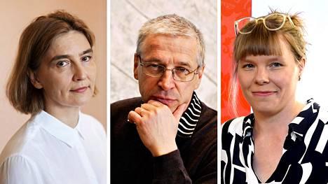 Anu Kantola (vas.), Pertti Alasuutari ja Hanna Kuusela.
