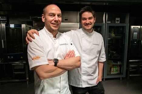 Tommi Tuominen ja Henri Alén omistavat Finnjävel-ravintolan.