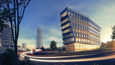 Next-toimistorakennus tulee olemaan arkkitehtoninen maamerkki Espoon Keilaniemessä.