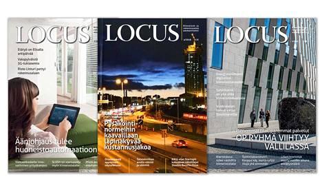 Locus-lehti perustettiin vuonna 1998. Keskellä viimeiseksi jäävä, uusi numero.