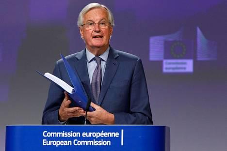 Neuvotteluja EU:n ja Britannian tulevasta suhteesta vetää EU:n puolella entinen ranskalaiskomissaari Michel Barnier. Hän ehti jo sairastaa covid-19-taudin.