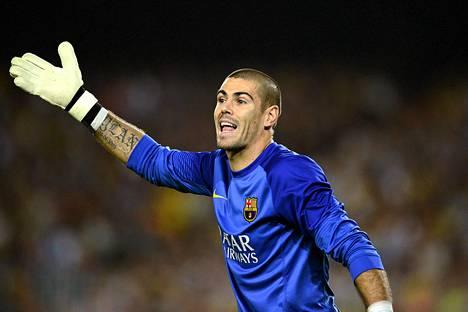 Victor Valdes oli Barcelonan ykkösvahtina vuosien ajan.