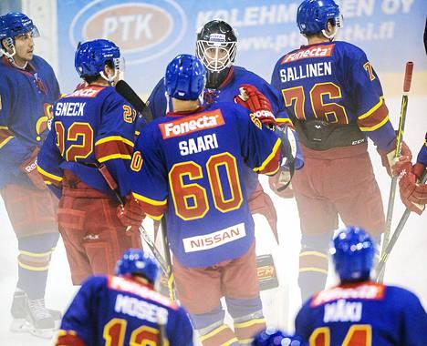 Alkavalla KHL-kaudella Jokerit mainostaa vieraspeleissä peliyhtiö Betssonia. Kuva kauden ensimmäisestä harjoituspelistä Vladivostokia vastaan.