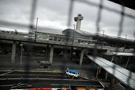 John F. Kennedyn lentokentän saapuvien lentojen terminaali.