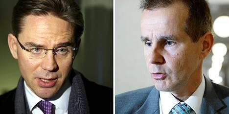 Jyrki Katainen ja Jouni Backman.