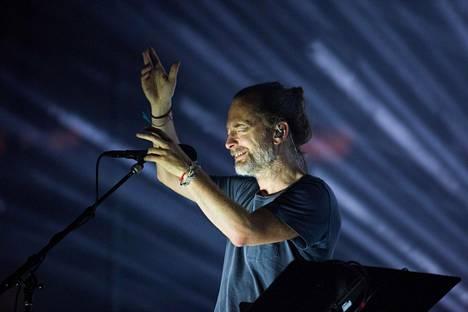Thom Yorke ja Radiohead esiintyivät New Yorkin Madison Square Gardenissa heinäkuussa.