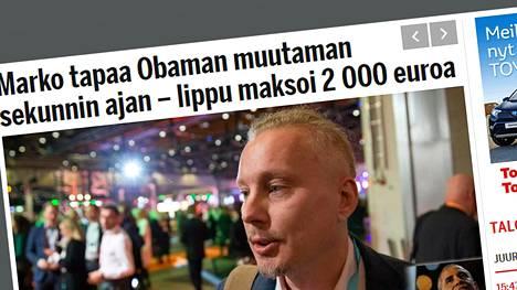 Järvenpään elinvoimajohtajaa Marko Kauppista haastateltiin Taloussanomiin. Kuvakaappaus Taloussanomien verkkosivuilta.