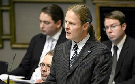 Perussuomalaisten kansanedustaja Juho Eerola