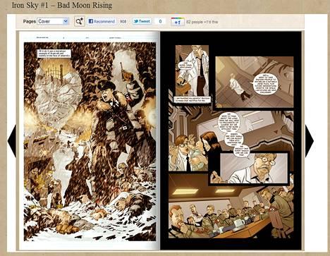 Iron Sky -sarjakuvaa voi lukea netistä.