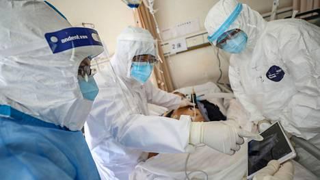 Koronavirustartunnan saanutta potilasta tutkittiin wuhanilaisessa sairaalassa 16. helmikuuta.