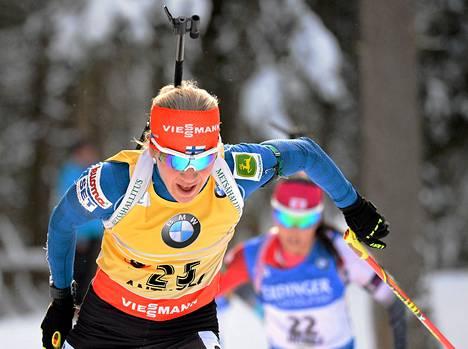 Kaisa Mäkäräinen sijoittui toiseksi maailmancupin osakilpailussa Anterselvassa.