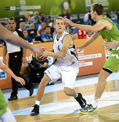 Mikko Koivisto oli yksi Suomen onnistujista Slovenia-ottelussa.
