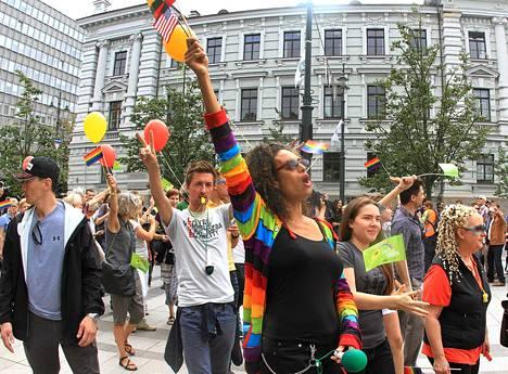 Vilnassa järjestetty Pride-marssi kulki ensimmäistä kertaa läpi kaupungin historiallisen keskustan.
