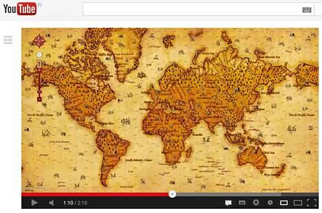 Google kertoi salaperäisellä pilavideolla kutsuvansa karttaohjelmansa käyttäjät mukaan aarteenetsintään.