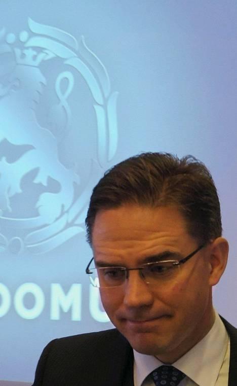 Pääministeri Jyrki Katainen oli keskiviikkona kokoomuksen puoluehallituksen kokouksessa.