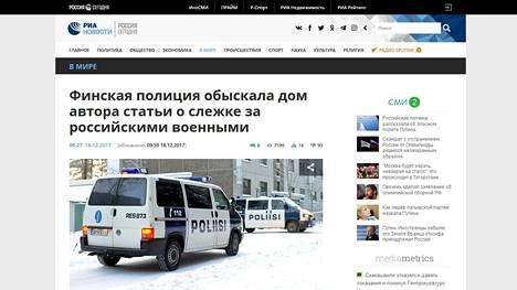 Kuvakaappaus Ria Novosti -uutissivustolta.