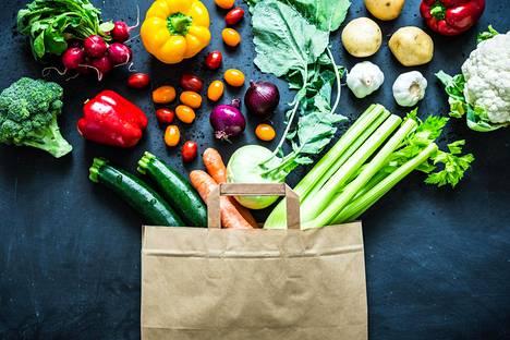 Dash-ruokavaliossa syödään paljon kasviksia ja hedelmiä.