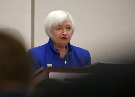 Yhdysvaltojen keskuspankin pääjohtaja Janet Yellen