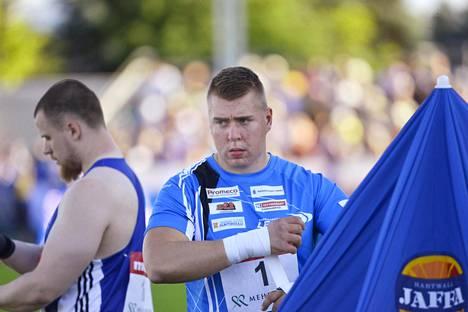 Arttu Kangas voitti perjantaina kuulantyönnön.