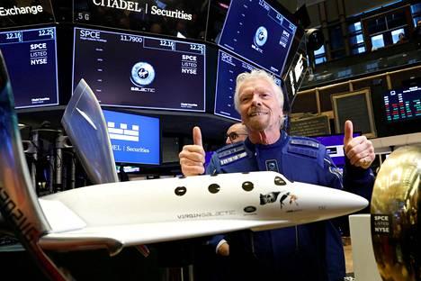 Virgin Galacticin perustaja Richard Branson.