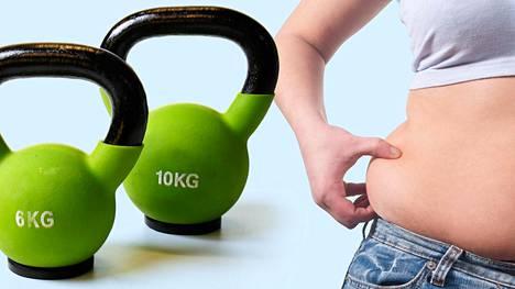 Vyötärölle kertyvää rasvaa saa pois oikeanlaisen ruokavalion ja treenin yhdistelmällä.