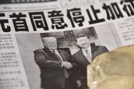Yhdysvaltojen presidentti Donald Trump ja Kiinan presidentti Xi Jinping tapasivat joulukuun alussa ja päättivät lykätä tulleja 90 päivällä.