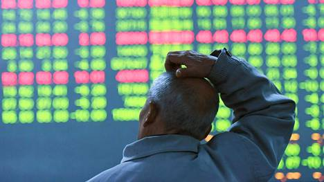 Pörssikurssien heilunnan odotetaan jatkuvan. Kuva kiinalaisesta välitysfirmasta.