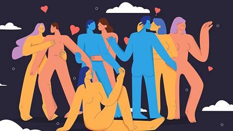 Käsite monisuhteisuus kuvaa parisuhteiden eri vaihtoehtoja.