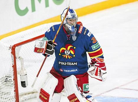 Riku Helenius pelasi uransa ensimmäisen nollapelin KHL:ssä.