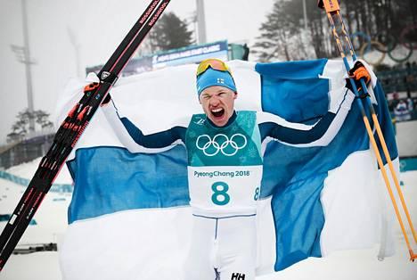 Iivo Niskanen on tuorein suomalainen olympiavoittaja. Hän voitti Pyeongchangin olympialaisissa 50 kilometrin kilpailun.