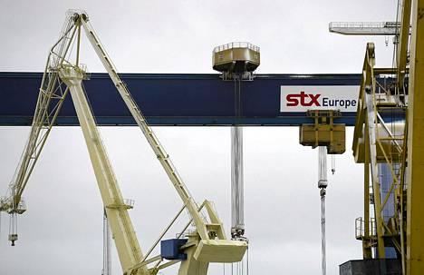STX Finlandin Turun telakka tammikuussa.