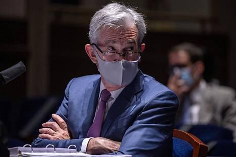 Yhdysvaltojen keskuspankin pääjohtaja Jerome Powell edustajainhuoneen kuulemistilaisuudessa kesäkuun lopussa.