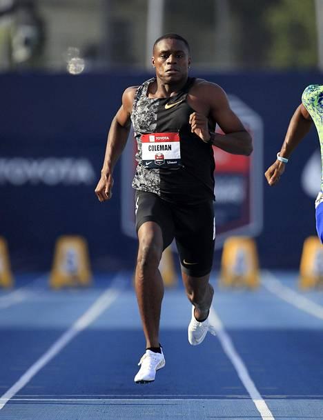 Christian Colemanin osallistuminen MM-kisoihin ja olympialaisiin on vaakalaudalla.