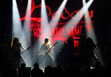 Alexi Laihon Bodom After Midnight debyyttikeikallaan Helsingin Tavastialla lokakuussa 2020.