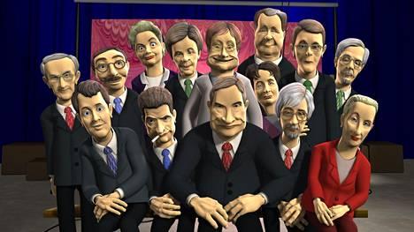 Itse valtiaiden kokoonpanoa heinäkuussa 2005. Uusien hahmojen luominen oli työläs ja kallis prosessi.