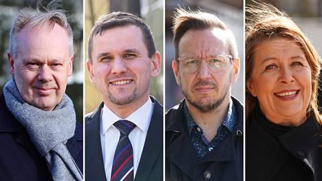 Timo Aro (vas.), Timo Metsola, Sami Moisio ja Mari Vaattovaara.