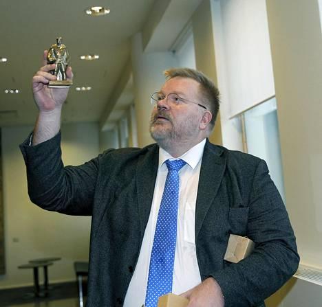 Johan Bäckman kuvattuna Helsingin hovioikeudessa lokakuun lopulla 2019.