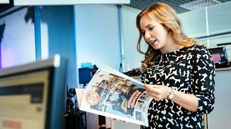 Fanny Fröman aloitti Lasten uutisten tekemisen vuonna 2016.