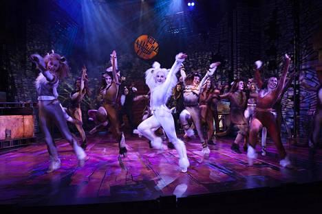 Kissamainen loikkiminen ja sulava liike toistuvat koreografioissa. Näyttelijät suoriutuvat hiotuista tanssinumeroista mallikkaasti.