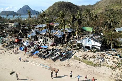 Ilmakuva Panayn saarelta lauantaina.