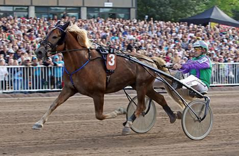 Costello nähdään Kaustisen kaviouralla pääsiäisenä. Risto Tupamäki ohjasti hevosen viime kesänä 2 100 metrin avausmatkan voittajaksi Vermon Kuninkuusraveissa.