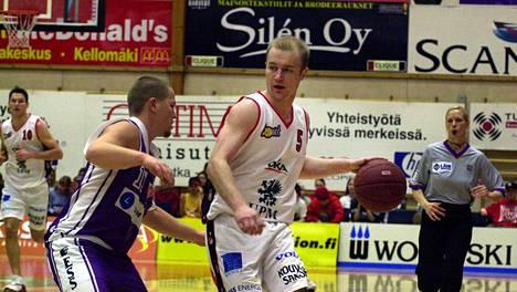 Jukka Toijala pelasi suurimman oman urastaan Kouvolan Kouvojen paidassa.