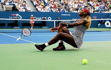 Serena Williams riemuitsi US Openin voitostaan.