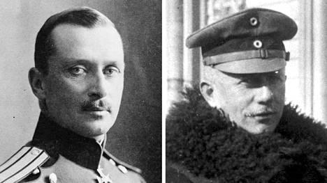 C.G. Mannerheim (vas.) ja Rüdiger von der Goltz taistelivat samalla puolella, mutta kilpailivat keskenään.