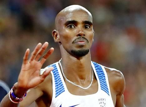 Iso-Britannian Mo farah voitti yleisurheilun MM-kisoissa Lontoossa kultaa 10000 metrillä ja hopeaa 5000 metrillä.