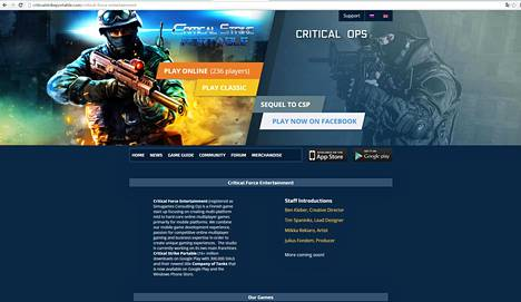 Critical Force Entertainment -yhtiön kotisivu.