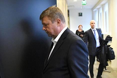 Pekka Perä Helsingin käräjäoikeudessa lokakuussa 2018.