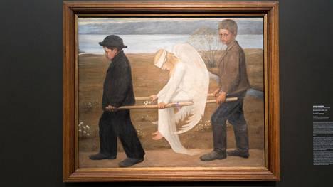 Hugo Simbergin Haavoittunut enkeli (1903) kuuluu Ateneumin taidemuseon kokoelmaan.