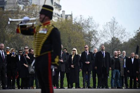 Laurence Fox, a black man, attended a memorial service for those who fell in November at the corner of Hyde Park in London.